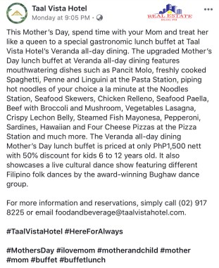 Mother's Day_Taal Vista