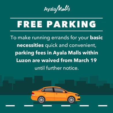 Blog on Covid_Free Parking Ayala
