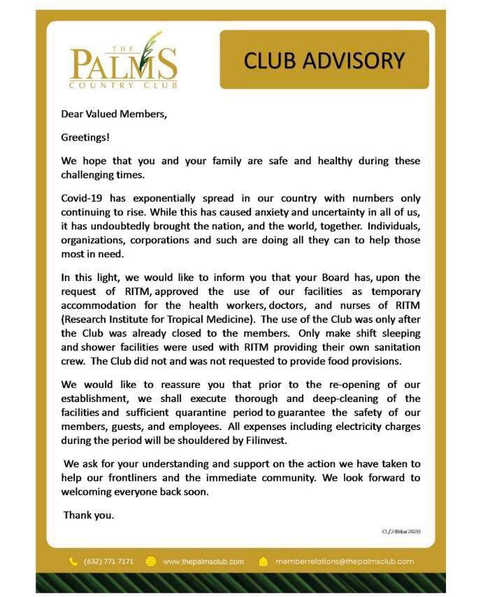 Blog_REB PH_Palms Country Club on Covid